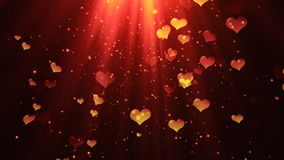 Elegant Dark Heavenly Hearts 2 Loopable Background2 Loopable Background stock footage