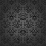 Elegant dark seamless. Luxury dark wallpaper, floral pattern Stock Image