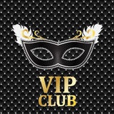 Elegant Dark VIP Card Vector Illustration Stock Photography
