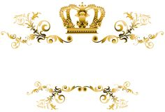 Elegant decoration in gold tones isolated Royalty Free Stock Photos