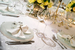 Elegant decoration of table Royalty Free Stock Photos