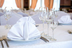 Elegant decoration of table in a restaurant Stock Photography