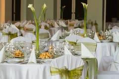 Elegant decoration of wedding table Stock Images