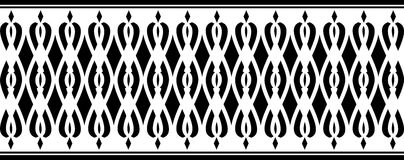 Elegant decorative border made up of black color Royalty Free Illustration