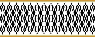 Elegant decorative border made up of black and golden colors Stock Illustration