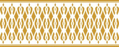 Elegant decorative border made up of golden color Royalty Free Illustration