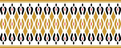 Elegant decorative border made up of golden red and black colors Stock Illustration