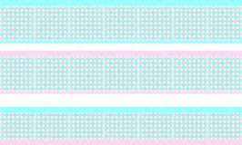 Elegant decorative border made up of polygons clear blue and rose Royalty Free Illustration