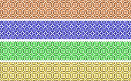 Elegant decorative border made up of polygons degree orange, blue, green and yellow Stock Illustration