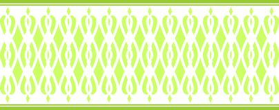 Elegant decorative border made up of several green colors 2 Royalty Free Illustration