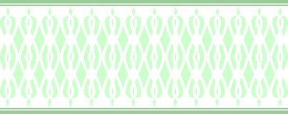 Elegant decorative border made up of several green colors 2. A Vector Illustration