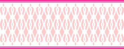 Elegant decorative border made up of several pink colors Vector Illustration