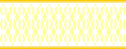 Elegant decorative border made up of several yellow colors.  Vector Illustration