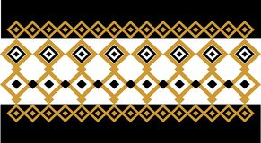 Elegant decorative border made up of square golden and black 20 Vector Illustration