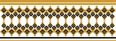 Elegant decorative border made up of square golden and black 25.  Vector Illustration