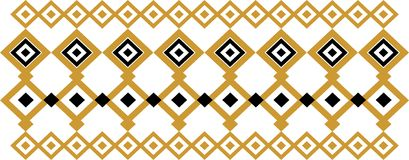 Elegant decorative border made up of square golden and black 21 Vector Illustration