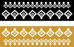 Elegant decorative border made up of square golden and black 22.  Royalty Free Illustration
