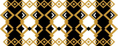 Elegant decorative border made up of square golden and black 18. A Vector Illustration