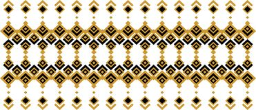 Elegant decorative border made up of square golden and black 26. A Royalty Free Illustration