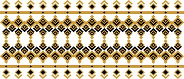 Elegant decorative border made up of square golden and black 27. A Vector Illustration
