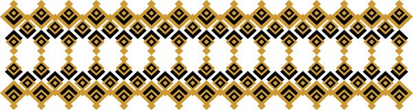 Elegant decorative border made up of square golden and black 29. A Royalty Free Illustration