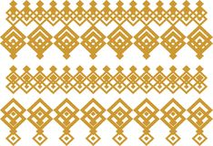 Elegant decorative border made up of square golden and white 15. A Royalty Free Illustration