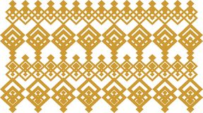 Elegant decorative border made up of square golden and white 13. A Vector Illustration