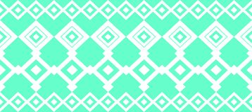 Elegant decorative border made up of square turquoise and white Royalty Free Illustration