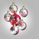 Elegant decorative christmas baubles. Stock Photo