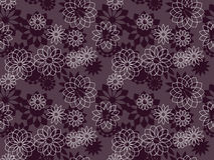Elegant decorative flowers seamless pattern. Royalty Free Stock Photo