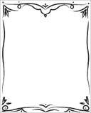 Elegant decorative frame. Elegant decorative black frame on a white background Royalty Free Stock Image