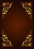 Elegant decorative hand drawn template, frame Stock Image