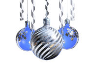 Elegant decorative isolated christmas baubles. Stock Image