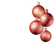 Elegant decorative isolated christmas baubles. Royalty Free Stock Photo