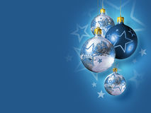 Elegant decorative isolated christmas baubles. Royalty Free Stock Photography