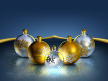 Elegant decorative isolated christmas baubles. Royalty Free Stock Image
