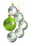 Elegant decorative isolated christmas baubles. Stock Images