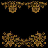 Elegant decorative khokhloma postcard frame Royalty Free Stock Images