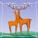 Elegant deer Royalty Free Stock Photos