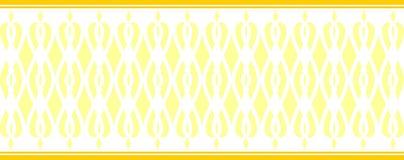 Elegant dekorativ gräns som utgöras av flera gula färger Fotografering för Bildbyråer