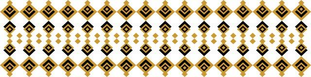 Elegant dekorativ gräns som utgöras av flera gula färger Arkivfoto