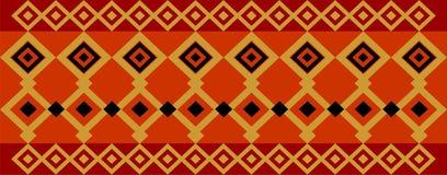 Elegant dekorativ gräns som utgöras av fyrkantig guld-, svart och mörkt - rött Royaltyfria Bilder
