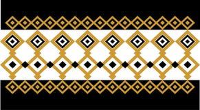 Elegant dekorativ gräns som utgöras av fyrkantigt guld- och svart 20 Arkivbild
