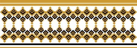 Elegant dekorativ gräns som utgöras av fyrkantigt guld- och svart 25 Royaltyfri Foto