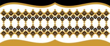 Elegant dekorativ gräns som utgöras av fyrkantigt guld- och svart 24 Arkivbilder