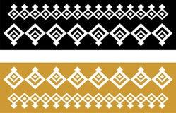 Elegant dekorativ gräns som utgöras av fyrkantigt guld- och svart 22 Royaltyfria Bilder
