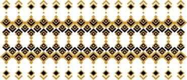 Elegant dekorativ gräns som utgöras av fyrkantigt guld- och svart 26 Fotografering för Bildbyråer
