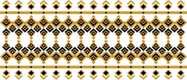 Elegant dekorativ gräns som utgöras av fyrkantigt guld- och svart 27 Arkivbilder