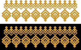 Elegant dekorativ gräns som utgöras av fyrkantigt guld- och svart 30 Royaltyfri Foto