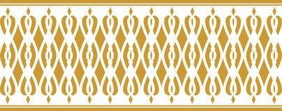 Elegant dekorativ gräns som utgöras av guld- färg Royaltyfri Bild